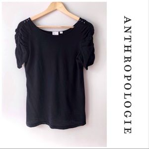 Anthropologie | Postmark Rushed Button Sleeves Tee